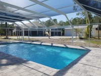 White Aluminum Pool Enclosure Captiva Island Florida