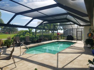 Mansard Design Pool Enclosure - Naples, Florida