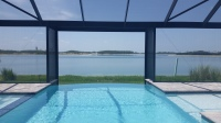 Picture Panel Enclosure Infinity Pool Aluminum Cage Fort Myers Cape Coral Lehigh Naples Port Charlotte Punta Gorda Florida