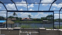 Southwest Florida Enclosure Pool Enclosure Swimming Pool Waterfront Home Design Aluminum